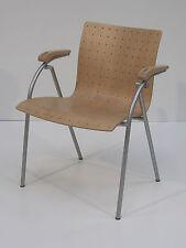 Stuhl Thonet S513 Buche natur mit Stahlgestell silber, Rarität