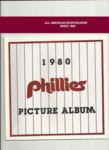 1980 PHILADELPHIA PHILLIES PHOTO ALBUM MINT FREE TOPPS SCHMIDT+CARLTON CARDS