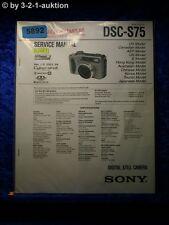 Sony Service Manual DSC S75 Level 2 Digital Still Camera  (#5892)