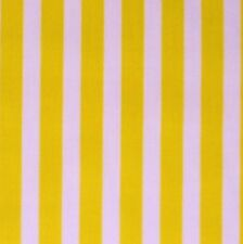 White & Yellow Stripe Polycotton Fabric *Per metre