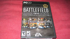 BATTLEFIELD 1942 COMPLETE COLLECTION PC CD ROM ROME WWII VIETNAM KEYS BOOKS CASE