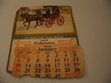 1907 Fleischmann Yeast Co. Antique Advertising Calendar Horse Cart cdii