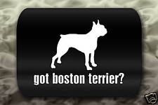 Got Boston Terrier Sticker Decal dog ?