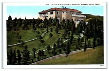 Early 1900s Residence of Charlie Chaplin, Beverly Hills, CA Postcard