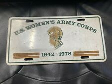 U.S. Women's Army Corps front Booster  License Plate