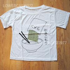 Japanese Noodle T-shirt, Kana, kawaii, food, weird - size 8-10 UK harajuku