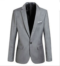 Men Stylish Slim Fit One Button Blazers Lightweight Casual Suit Jacket PK114