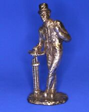 More details for royal hampshire silvered bronze 'cries of london' figure chimney sweep [22471]