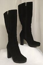Black Knee High Boots High Heel Marcin Collection Vince Camuto Size 37 US Size 6