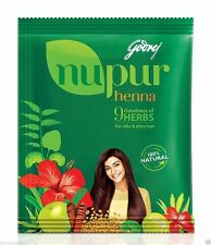 Godrej Nupur Henna Mehndi Mehendi Powder 9 Herbs Blend Hair Dye Color 400 GM