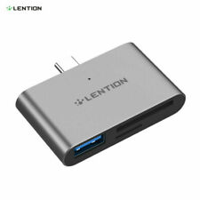 LENTION USB-C HUB to USB 3.0 OTG Adapter SD Card Reader for Apple New iPad Pro