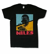 MILES DAVIS PIXELS IMAGE BLACK T SHIRT NEW OFFICIAL JAZZ MUSIC ADULT SMALL