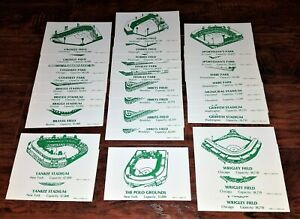 LOT 31 1983 GS GALLERY STADIUM CARDS: FENWAY PARK YANKEE STADIUM POLO WRIGLEY +