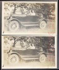 AUTO DE ÉPOCA fotos Muñeco & Mujer 1926 1927 Modelo altura FORD ROADSTER 737444