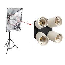 4 in 1 E27 Base Light Lamp Bulb Socket Splitter Adapter Studio Photography