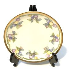 """Vintage 6 3/8"""" Collectible Hand Painted Plate Signed V.C.S. Germany"""