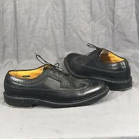 Florsheim Royal Imperial V Cleat Wingtip Shoes Black Leather Mens 8.5D 92604