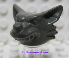 Lego Werewolf Minifig Head Dark Gray - Studios 1380 Monster - New