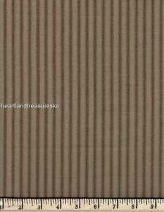 Dunroven House H-96 Primitive Homespun Brown ~ Wheat Ticking Fabric ~ You Pick