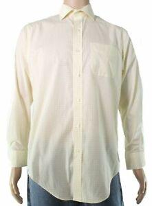 Lauren By Ralph Lauren Mens Dress Shirt Yellow 16 1/2 Check Classic $75 #164