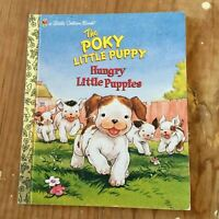 Little Golden Book, The Poky Little Puppy, Hungry Little Puppies Hardcover - Vtg