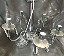 chrome chandelier and side lights