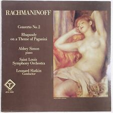 RACHMANINOFF: Piano Concerto ABBEY SIMON lp SEALED Turnabout vox STEREO Slatkin