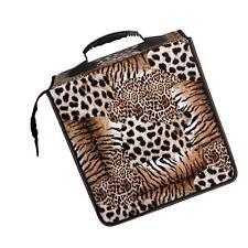Handle Design 512 Capacity CD DVD Holder Wallet Case Bag Media Storage Leopard