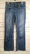 Cowgirl Up Dont Fence Me In Women's Dark Wash Bootcut Jeans Sz.6 29X31 (V36)