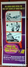 """WHAT DID YOU DO IN THE WAR, DADDY? 36x14"""" Insert Original Movie Poster 60s"""