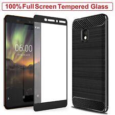Nokia 1 Plus Case Armor Cover + Tempered Glass Screen Protector For Nokia 1 Plus