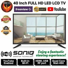 40 Inch FULL HD 1080P LED LCD TV Freeview Plus Soniq Smart Television Screen