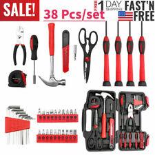 38 Pcs Home Tool Kit Household Tool Kit Basic Hand Tool Set Starter With Box Us