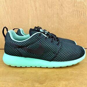 Nike Roshe Men's Size 11.5 Premium Running Shoes Black Green Glow 525234-004