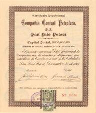 Compania Central Petrolera, S.A. San Luis Potosi