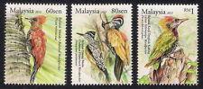 2013 MALAYSIA WOODPECKER BIRDS (3v) MNH