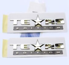 2x OEM TEXAS Edition Emblems BADGES For Chevrolet Silverado SIERRA GM Chrome FU