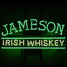 "Jameson Irish Whiskey Neon Lamp Sign 17""x14"" Bar Light Garage Glass Artwork"