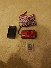 Nikon COOLPIX S6200 16.0MP Digital Camera - Red with Vera Bradley case 1GB