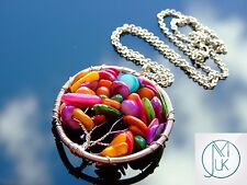 Handmade Mix Color Shells Tree of Life Natural Pendant Necklace 50cm