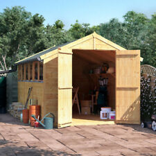 12x8 Wooden Shed - BillyOh Windowed Double Door Master Tongue & Groove Apex