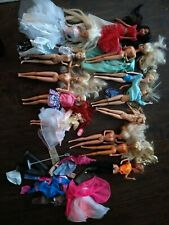 Lot Of Barbies And Other Misc Dolls And Clothes 13 total dolls