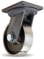 "S-MD-103FST 10"" Hamilton-MaxiDuty Swivel Plate Caster Forged Steel Wheel 6500 lb"