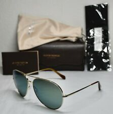OLIVER PEOPLES SAYER OV1201S 5035/6R GOLD GREEN MIRROR AVIATOR SUNGLASSES. 63mm