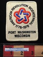 VTG PORT WASHINGTON WISCONSIN BICENTENNIAL Patch 1776-1976 63V