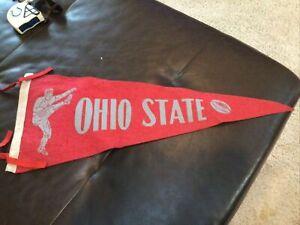Vintage Ohio State Buckeyes Football Pennant OSU Gray Letters