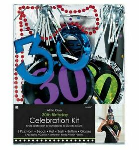 All In One 30th Birthday Party Kit (6 Piece) - 920005