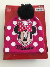 Girls Minnie Beanie Winter Hat And Ski Glove Set Youth Size M/L Fuchsia Disney