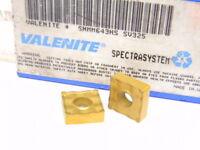 NEW SURPLUS 2PCS. VALENITE  SNMM 643HS  GRADE: SV325  CARBIDE INSERTS