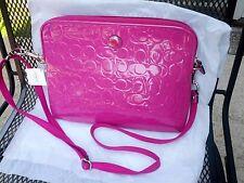 COACH Crossbody IPAD/TABLET Magenta Color Bag with strap & zippered pocket NWT
